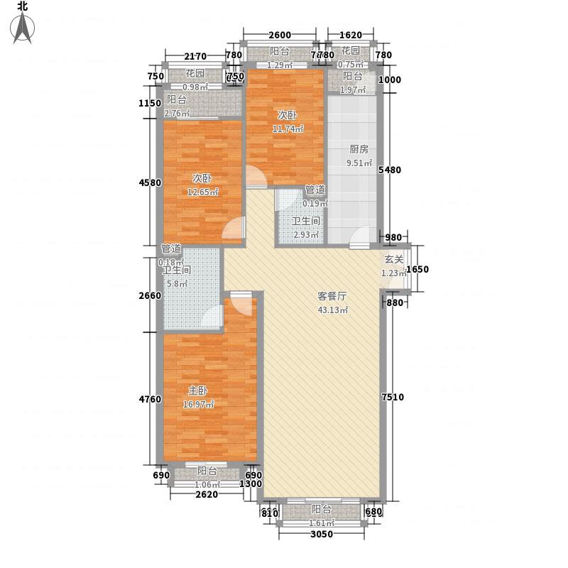 欧陆经典户型3室2厅2卫1厨