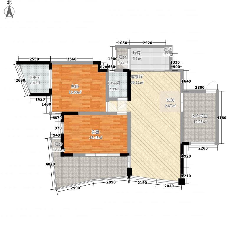 鲁能・三亚湾美丽MALL14.00㎡鲁能三亚湾美丽MELL户型2室