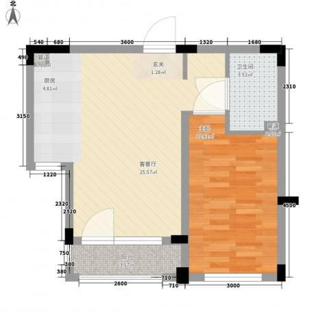斯坦福院落1室1厅1卫0厨51.32㎡户型图
