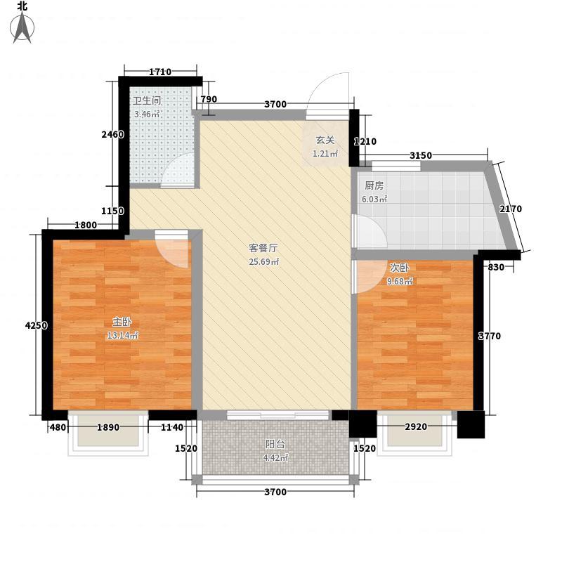 山水湖滨花园二期88.86㎡山水湖滨花园二期户型图B户型2室2厅1卫1厨户型2室2厅1卫1厨