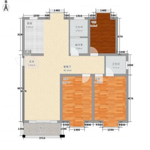 欣欣苑3室1厅2卫0厨135.00㎡户型图