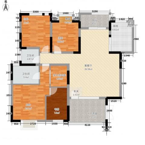 山西省电力堪测设计院宿舍4室1厅2卫1厨161.00㎡户型图