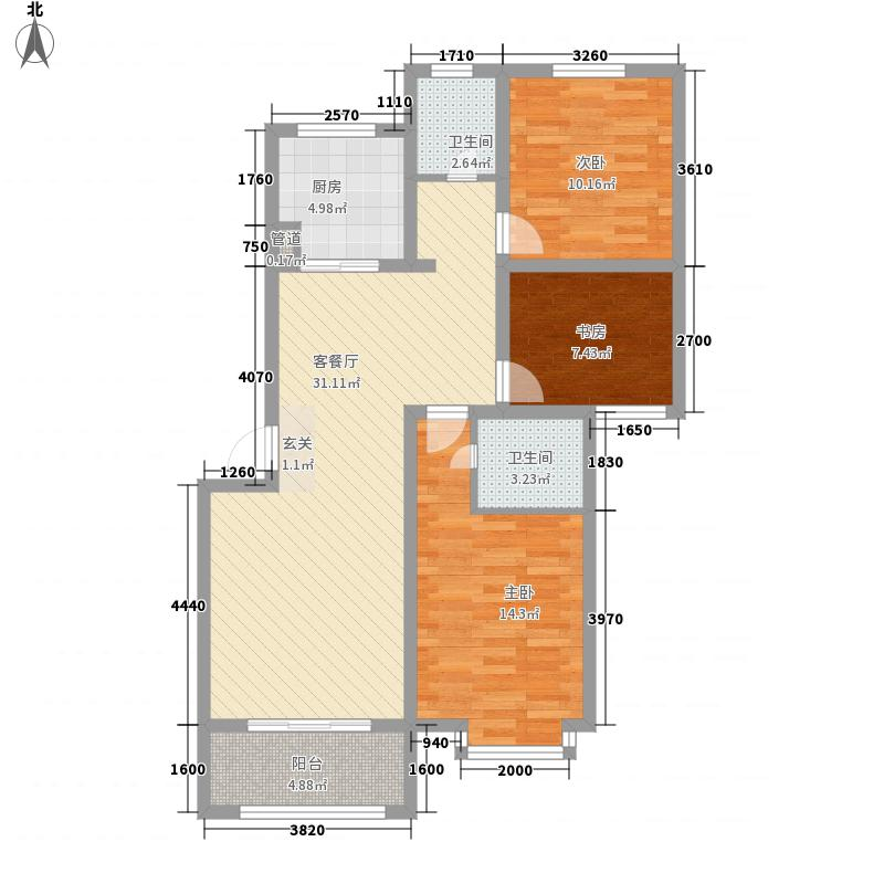 齐鲁涧桥117.01㎡齐鲁涧桥户型图Sn2户型3室2厅2卫户型3室2厅2卫