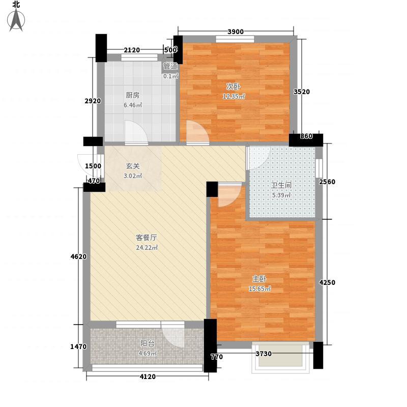 邮电新村85.00㎡邮电新村2室户型2室
