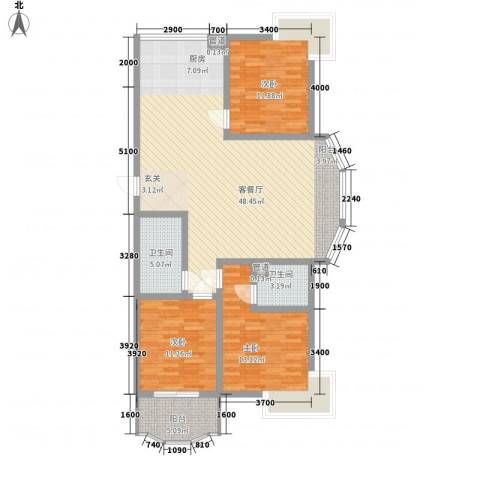 安康南苑3室1厅2卫0厨139.00㎡户型图