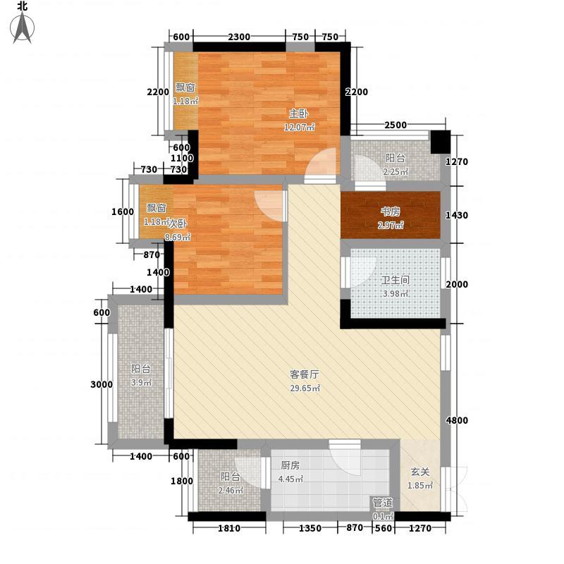 盈田金开里一期高层1/2号楼标准层A1户型