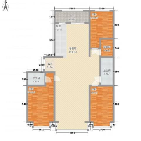 中华名苑3室1厅2卫0厨240.00㎡户型图