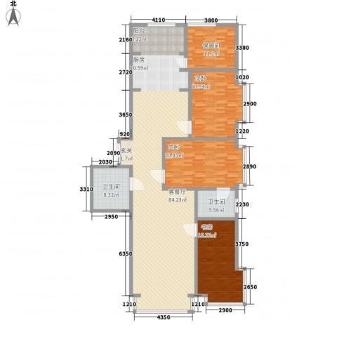 中华名苑3室1厅2卫0厨229.00㎡户型图