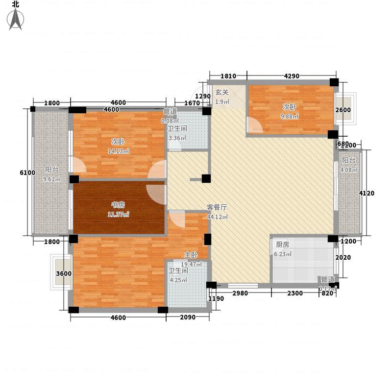 鼓楼庭院143.24㎡24#楼03单元户型
