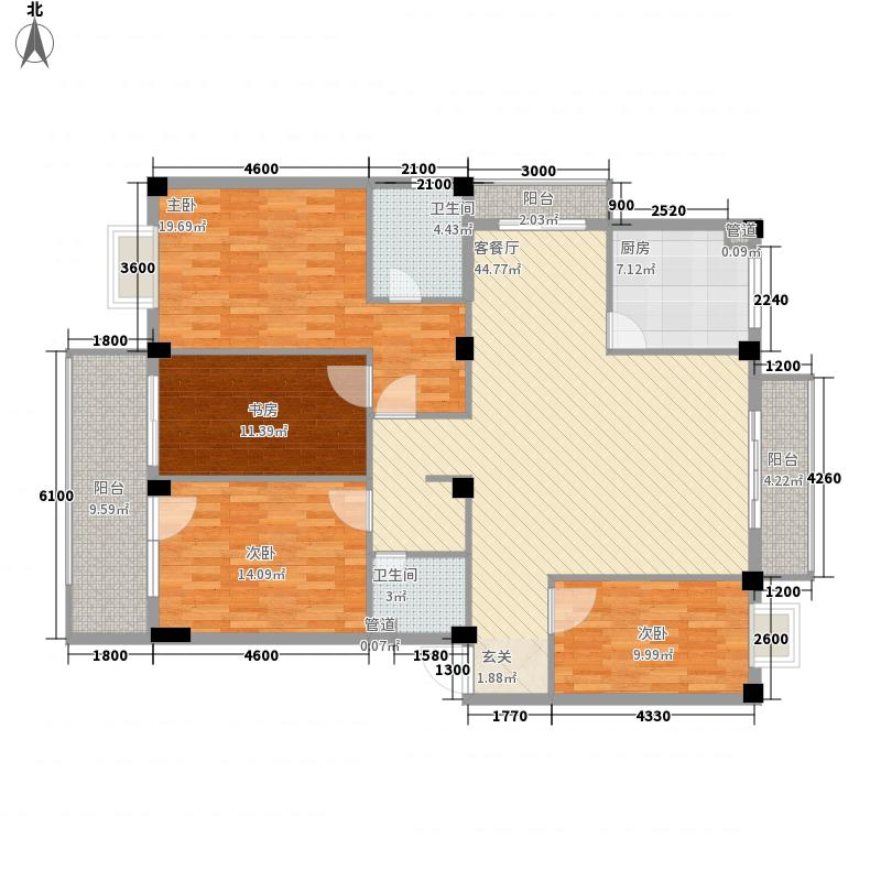 鼓楼庭院146.69㎡鼓楼庭院户型图24#04单元4室2厅2卫户型4室2厅2卫