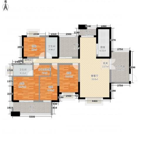警备小区4室1厅2卫1厨177.00㎡户型图