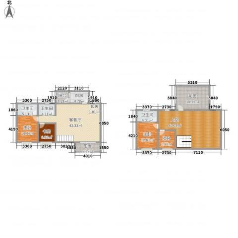 双语雅苑4室1厅3卫1厨245.00㎡户型图