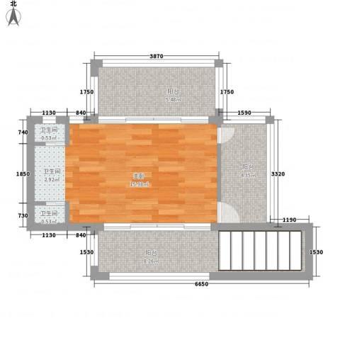 顺泽福湾1室0厅2卫0厨53.00㎡户型图