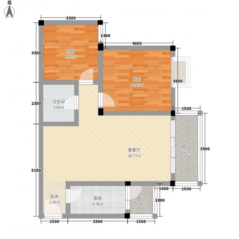 小石城小石城户型图2室2厅1卫1厨户型10室