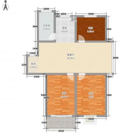 上林苑3室1厅1卫0厨114.00㎡户型图