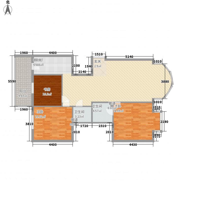 凯旋城157.00㎡户型2室1厅2卫1厨