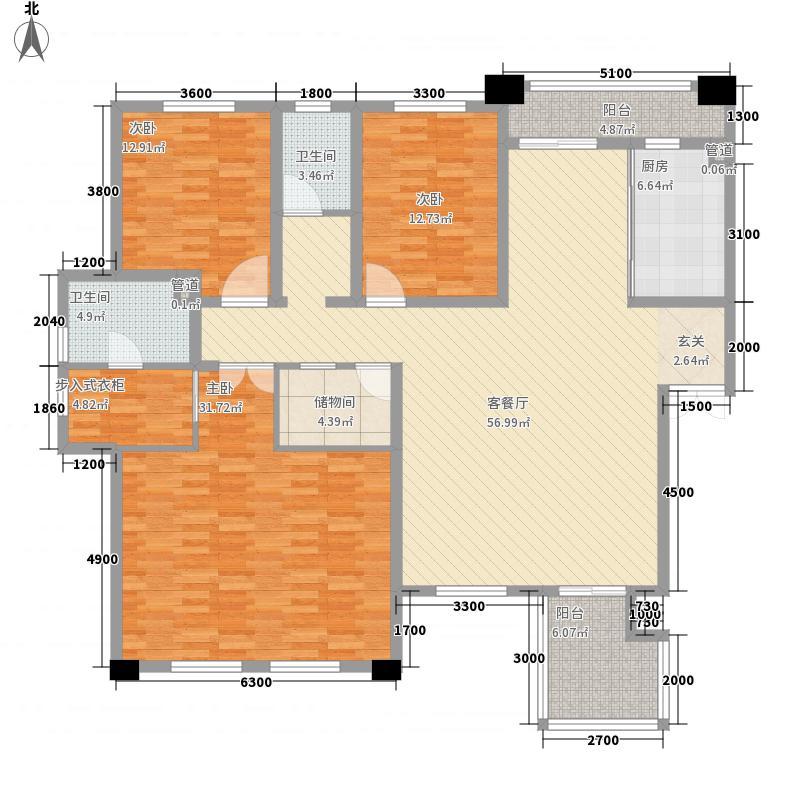 保利花园三期双河城174.00㎡保利花园三期双河城户型图A35室2厅2卫户型5室2厅2卫