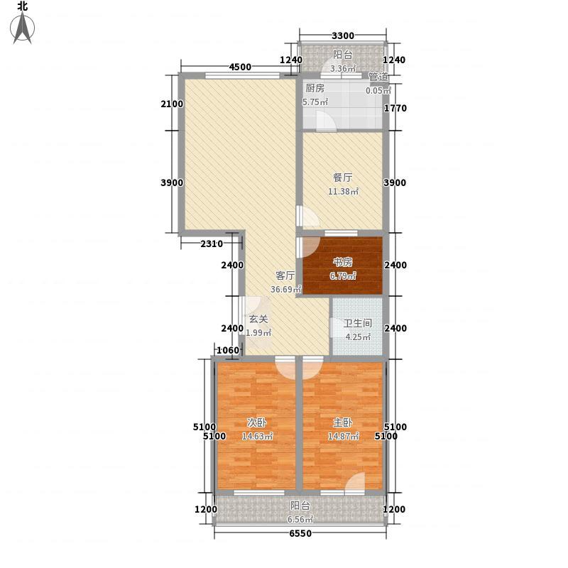 和成金都园130.00㎡C座3、5单元户型4室2厅1卫1厨