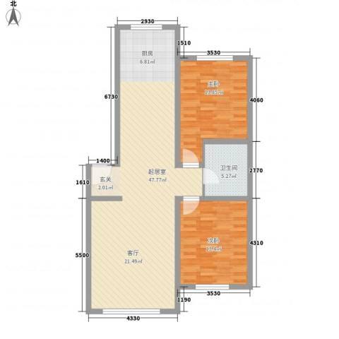 山水家园2室0厅1卫0厨112.00㎡户型图