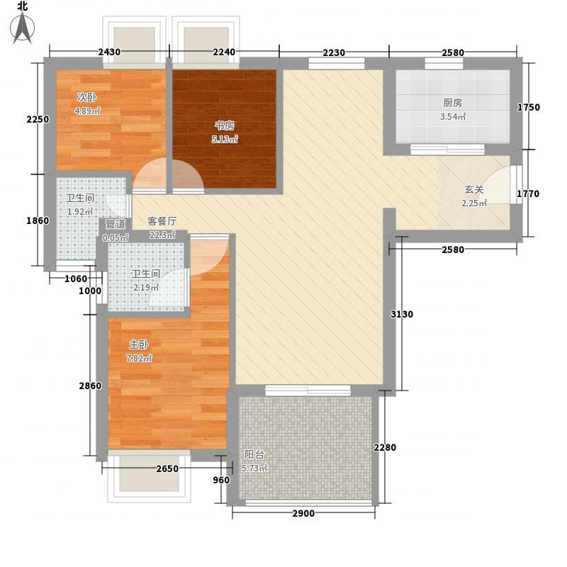 柴林头东区78.00㎡柴林头东区3室户型3室