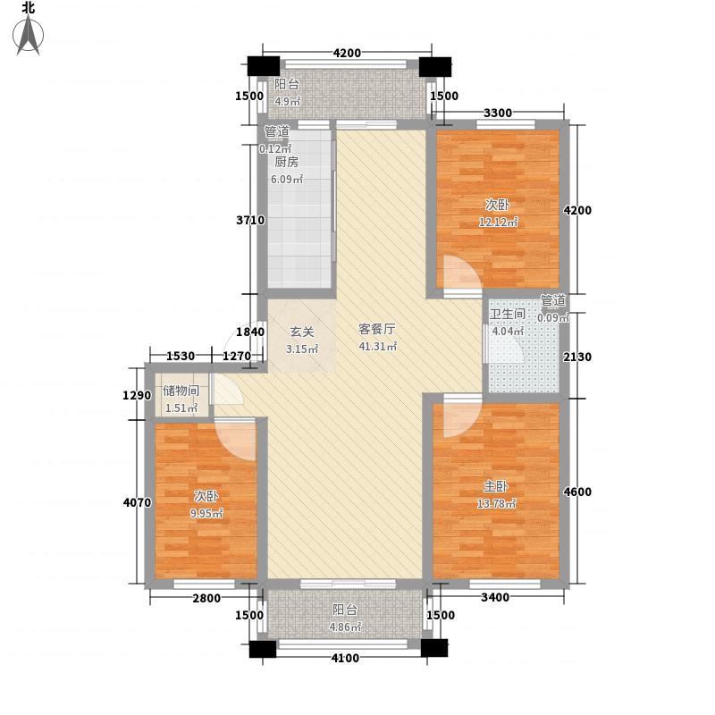 保利花园三期双河城123.00㎡保利花园三期双河城户型图三室二厅一卫123平方米3室2厅1卫户型3室2厅1卫