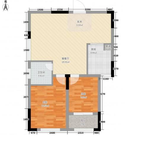 丰田花园2室1厅1卫1厨93.00㎡户型图