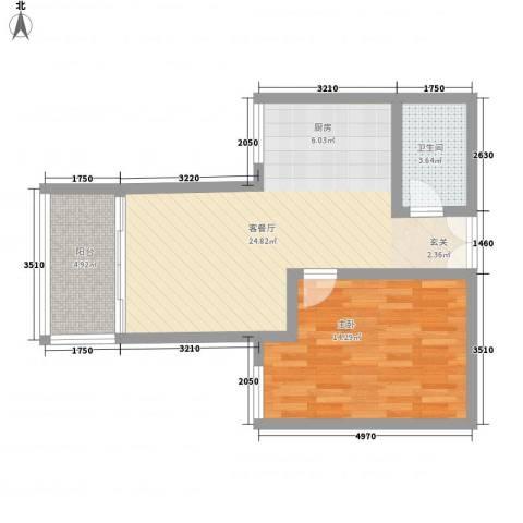 惠鑫公寓1室1厅1卫0厨47.66㎡户型图