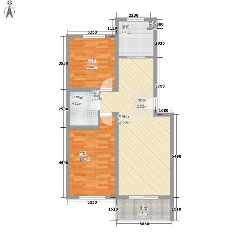 三教堂新村95.22㎡三教堂新村95.22㎡2室2厅1卫1厨户型2室2厅1卫1厨