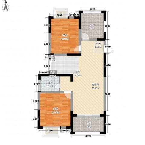 香堤澜湾二期爱琴岛2室1厅1卫0厨98.00㎡户型图