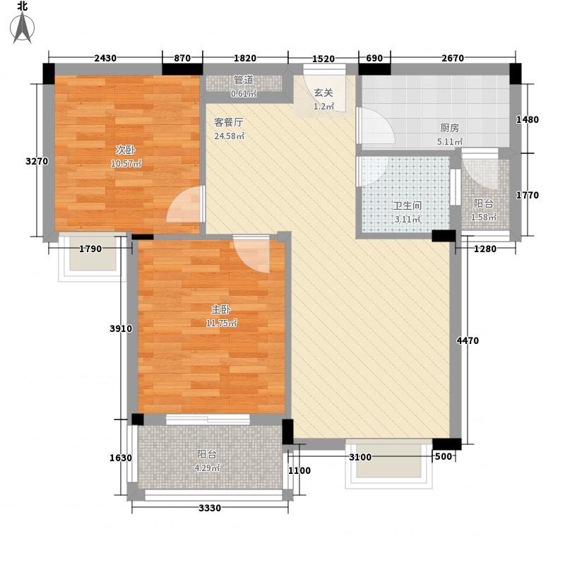 香江红海园二期90.00㎡香江红海园2期2室户型2室