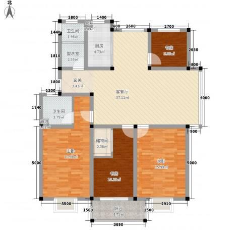上林苑4室1厅2卫1厨138.00㎡户型图