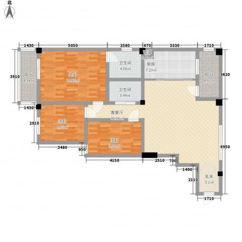 SOLO自由城3室1厅2卫1厨145.00㎡户型图