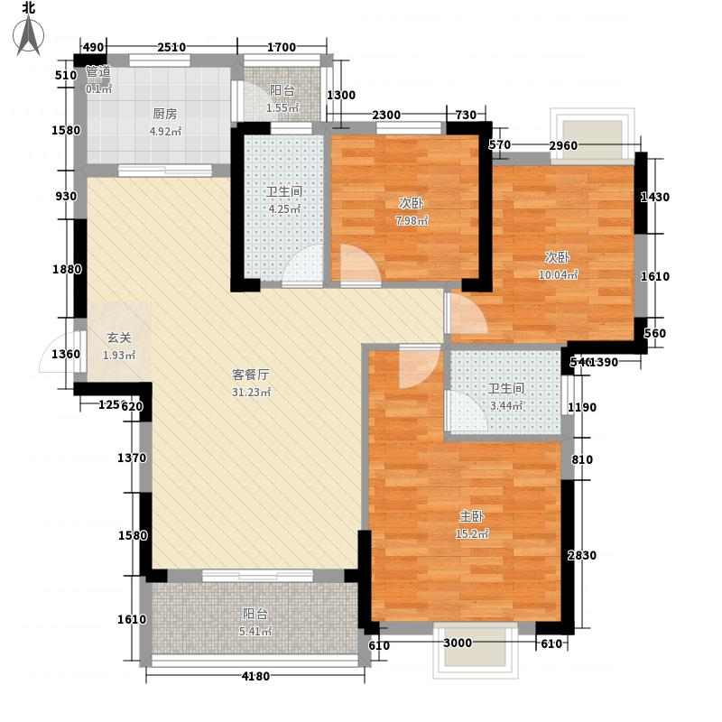 兴邦华庭123.10㎡兴邦华庭户型图B5户型3室2厅2卫1厨户型3室2厅2卫1厨