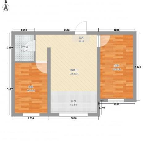 阳光美地2室1厅1卫0厨71.00㎡户型图