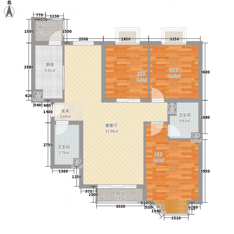 公园道一号135.00㎡公园道一号3室户型3室