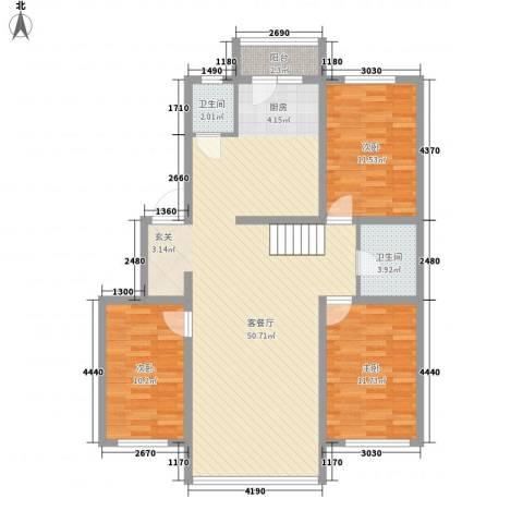 雁鸣湖山庄3室1厅2卫0厨131.00㎡户型图