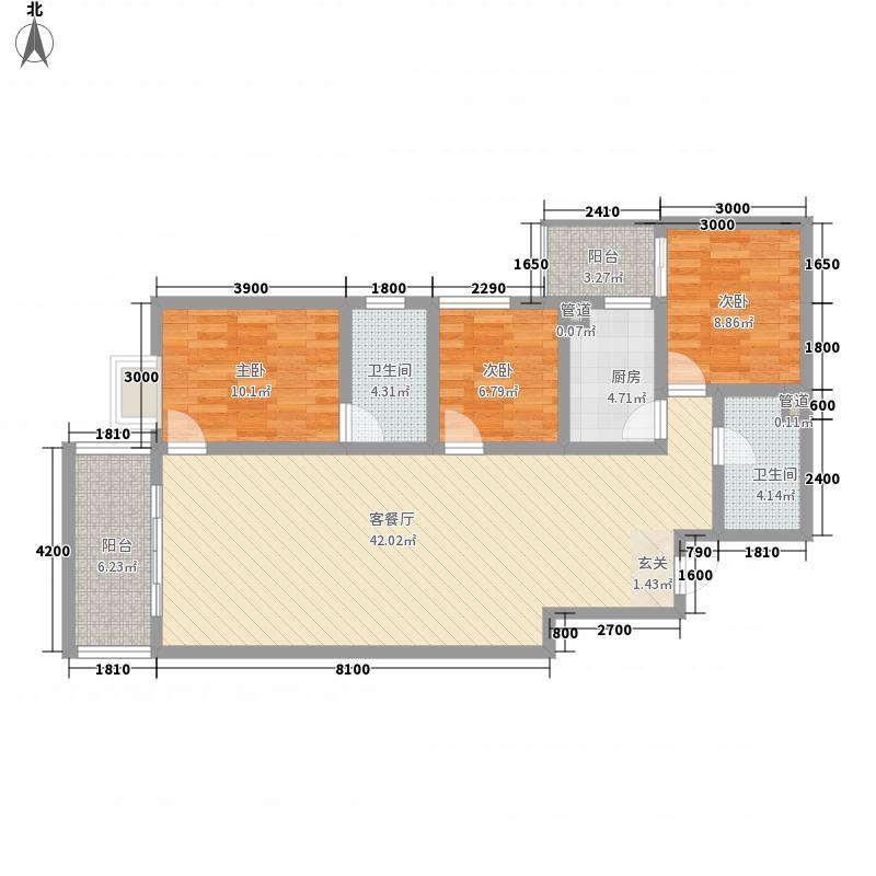 鸿基嘉苑鸿基嘉苑户型图3室2厅2卫1厨户型10室