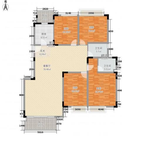 江南世家4室1厅2卫1厨250.00㎡户型图