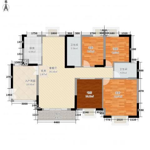 江南世家4室1厅2卫1厨138.00㎡户型图