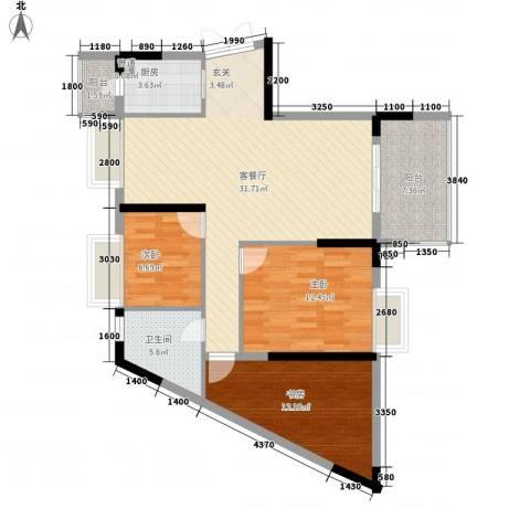 江南世家3室1厅1卫1厨232.00㎡户型图