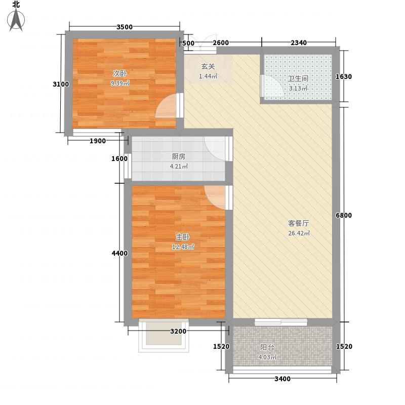 市政府文景4.54㎡小区户型2室
