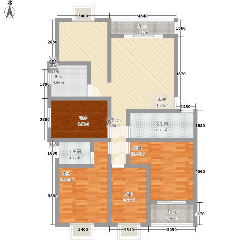 康德世家三期144.29㎡29#01、07户型4室2厅2卫1厨