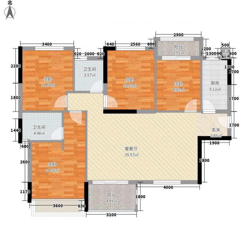 万科金色领域120.00㎡万科金色领域户型图3期125平户型图4室2厅2卫1厨户型4室2厅2卫1厨