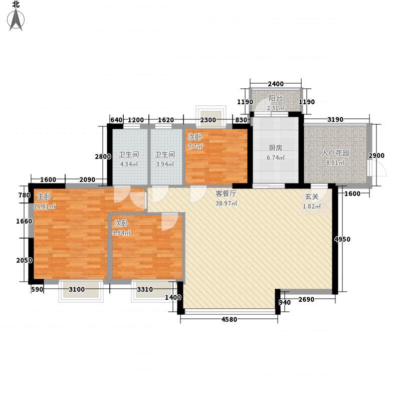 雅居蓝湾12.00㎡1区2栋01、02单位户型3室2厅