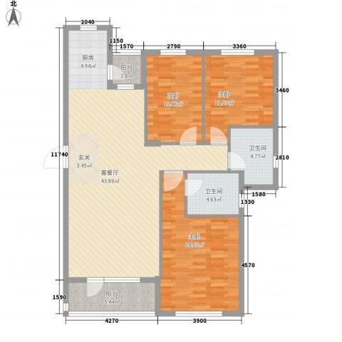 开成领地3室1厅2卫0厨121.00㎡户型图