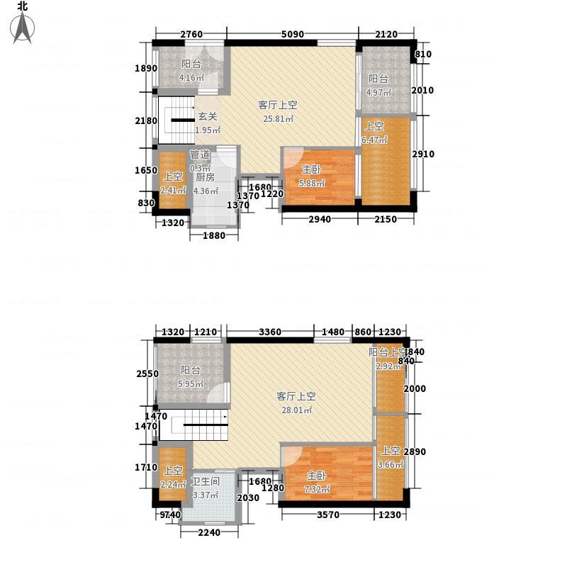 熙和园88.00㎡熙和园户型图B1户型复式4室2厅3卫1厨户型4室2厅3卫1厨