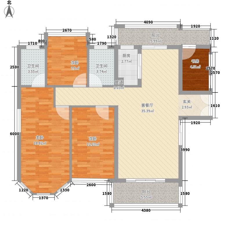 中骏黄金海岸143.00㎡精装海景度假公寓d1户型3室2厅2卫1厨