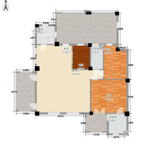 戴河庭院3室1厅2卫1厨137.68㎡户型图