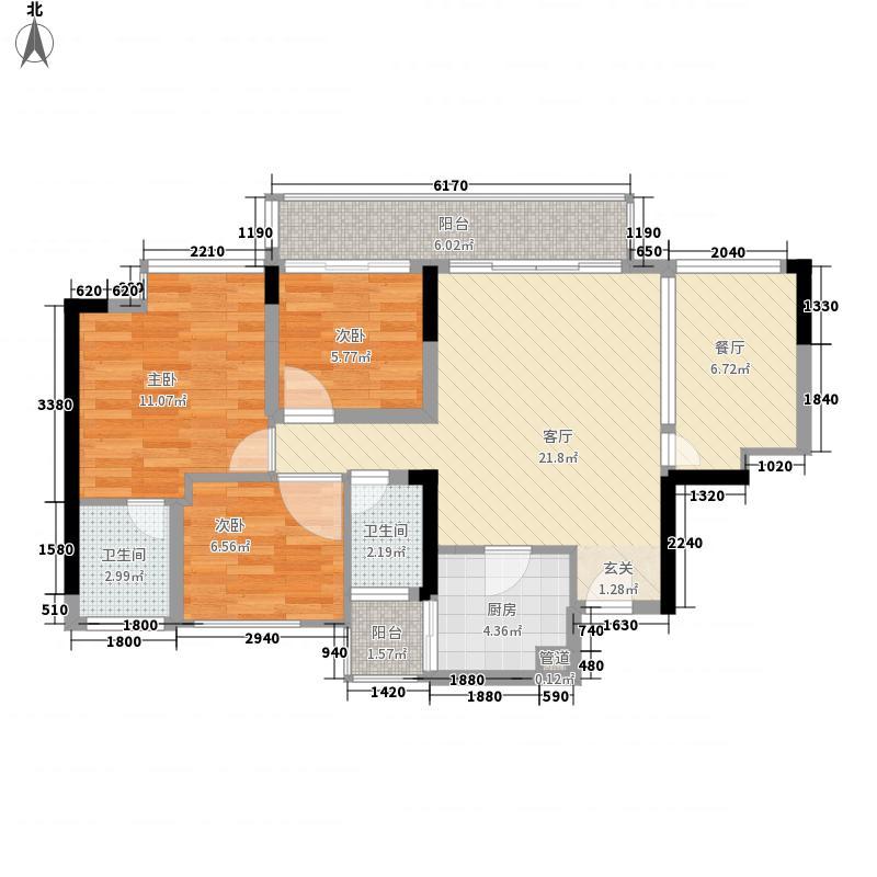 熙和园83.00㎡熙和园户型图C1户型3室2厅2卫1厨户型3室2厅2卫1厨