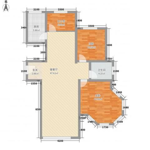 大院三期宽庭2室1厅1卫1厨2116.00㎡户型图